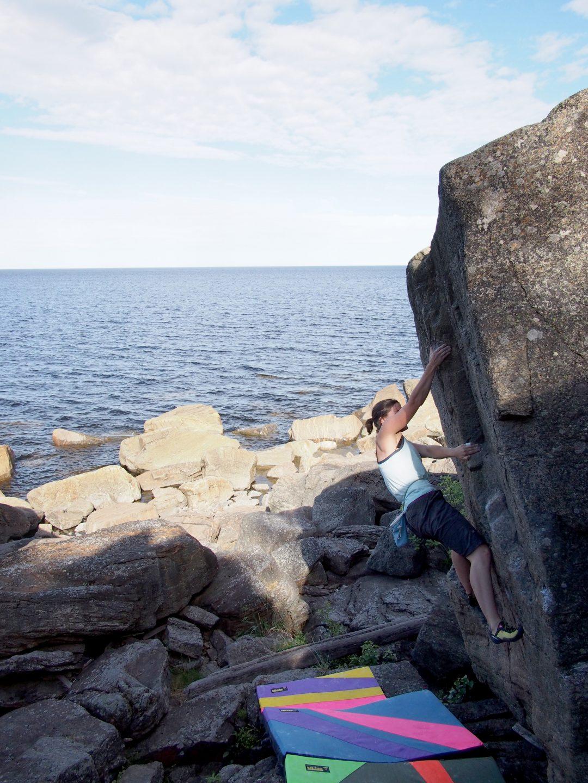 Becky Climbing